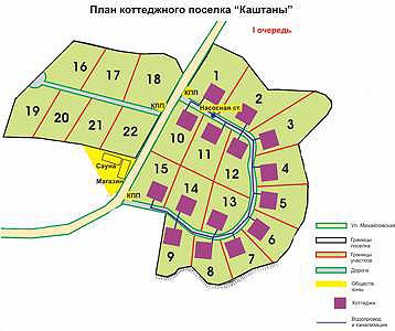 Поселок «Каштаны» в Хостинском районе г. Сочи